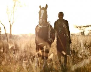 Masai in the Masai Mara Kenya with Horses Horseback Riding with Safaris Unlimited Africa